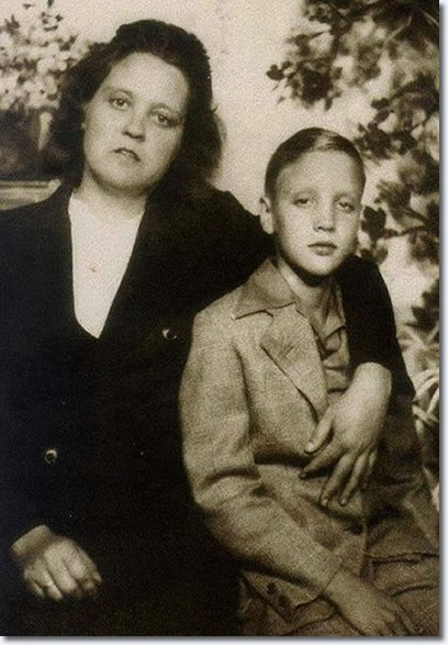 Elvis Presley and His Mom